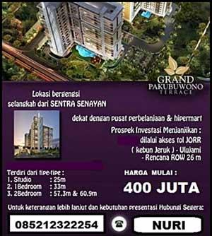 Jual Apartemen Grand Pakubuwono Terrace